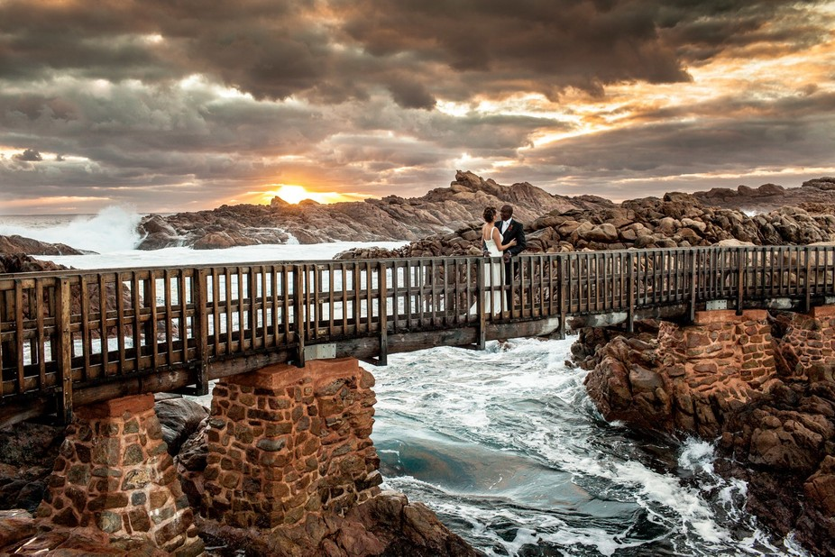 We were heading down to this amazing location when I saw the sky break out in this stormy sunset....