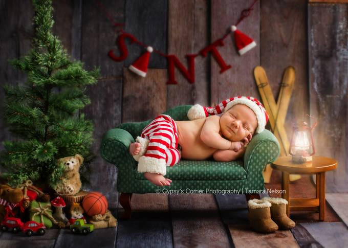 Santas Slumber by tamnelson - Babies Are Cute Photo Contest