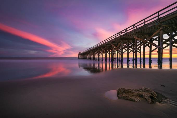 Sunset at Low Tide by 1dane805 - The View Under The Pier Photo Contest