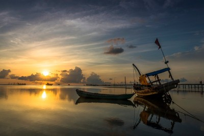 Peaceful Sunrise at Phu Quoc island