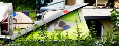 Boys camping