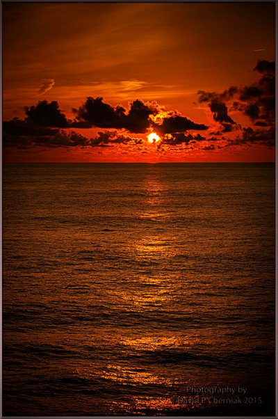 Perfect Sunrise on Celebrity Summit enroute to Bermuda 5-31-2011.
