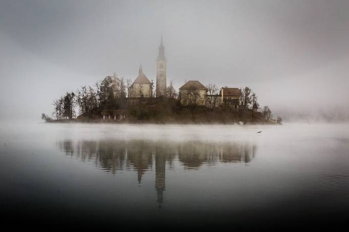 A Foggy Day on Lake Bled by ericcriswell