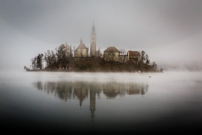 A Foggy Day on Lake Bled