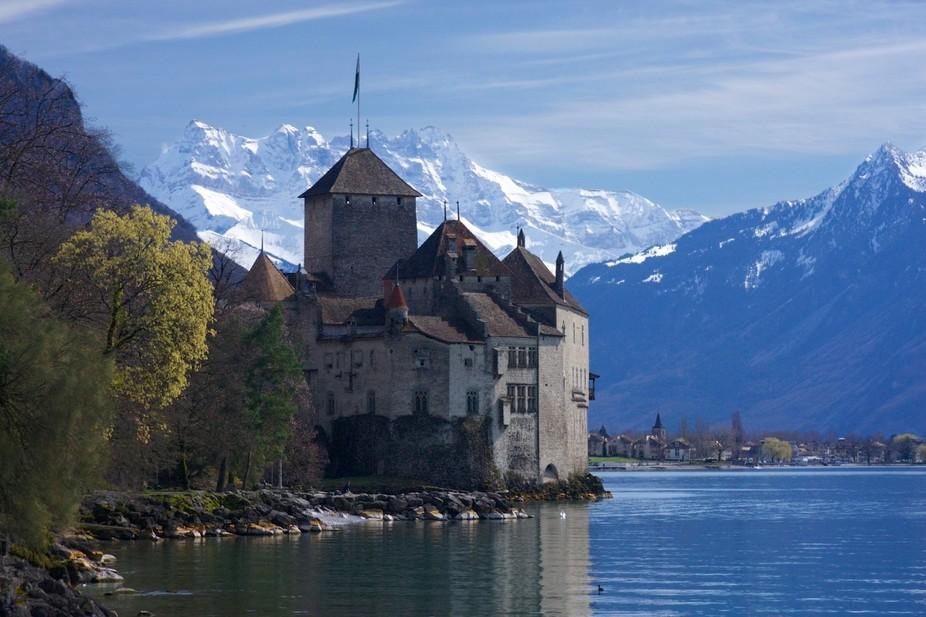 Chateau Chillion on Lac Leman (Lake Geneva) in Switzerland.