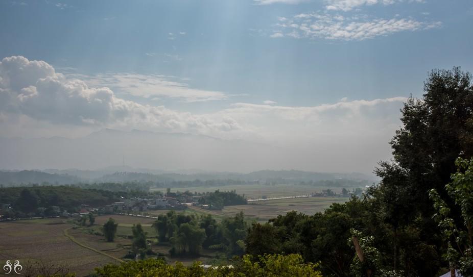 Looking over the hills of Dein Bien Phu in Vietnam