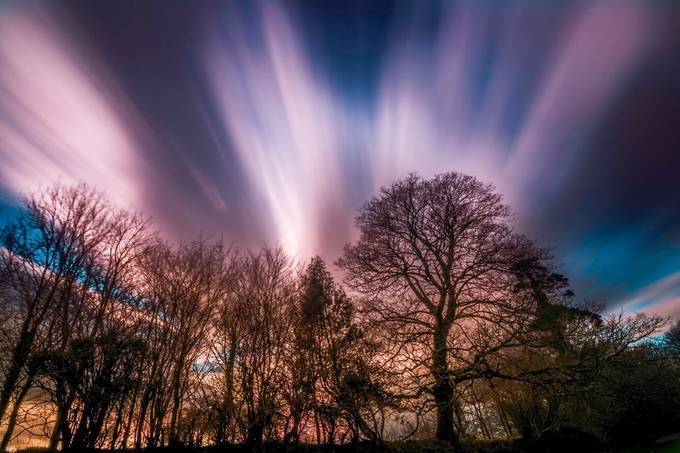 coloured streaks by saltashman - Clouds In Movement Photo Contest