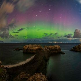 Northern Lights over the Sunshine Coast