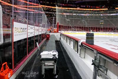 The Visitors Bench at Wells Fargo Center (Philadelphia Flyers)