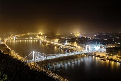 A view from Gellert Hill of Stunning Budapest