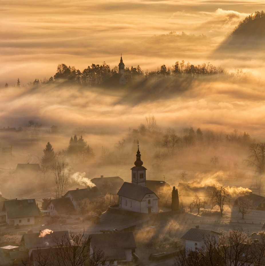 Misty morning by alekrivec - Mist And Drizzle Photo Contest