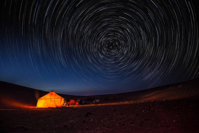 Startrail in Morocco by samuelroniger - Creative Travels Photo Contest