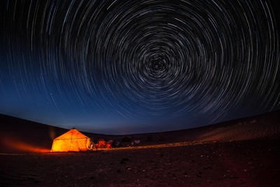 Startrail in Morocco