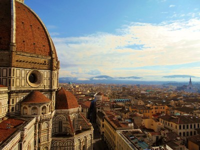 View from the Cathedral's Bell tower in Florence