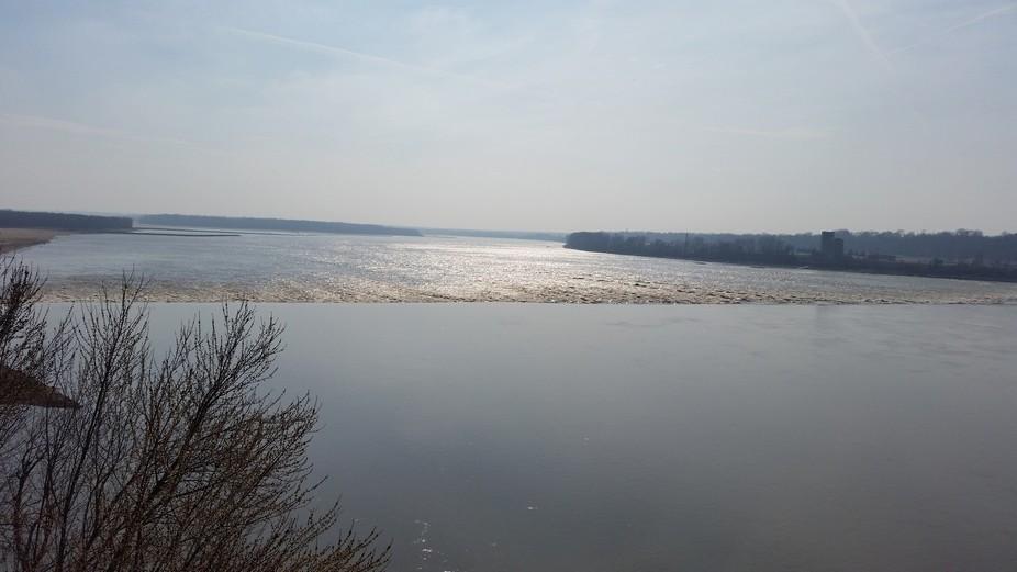 Chain of Rocks - Mississippi River taken from Bridge