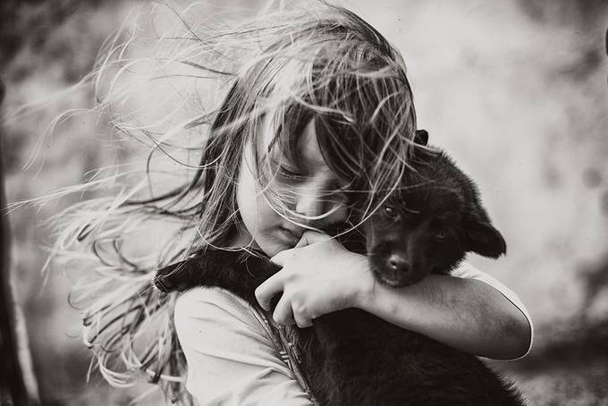 friendship by izabelaurbaniak - Children and Animals Photo Contest
