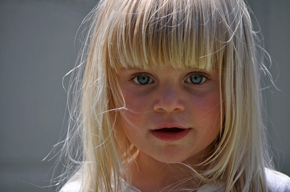 This is my beautiful grand daughter.Taken on a hot summer day 2 years ago.