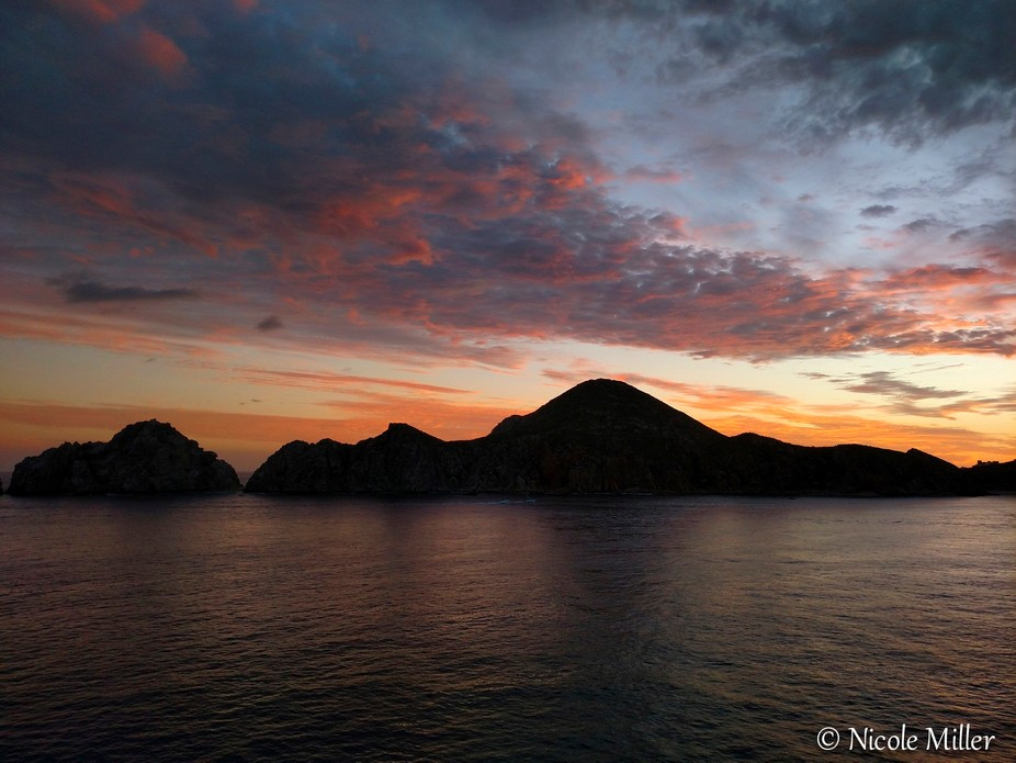 Cruising away from Cabo San Lucas, Mexico