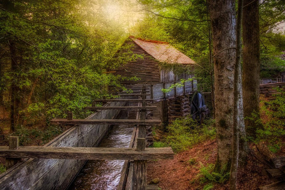 Cable Mill in Cades Cove, TN, part of the Great Smoky Mountains National Park.  Follow me to see ...