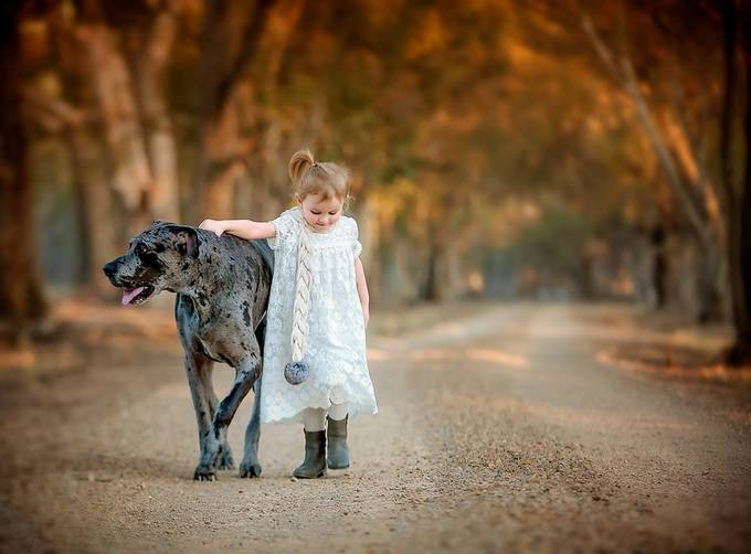 Manfred and Annalise by rachelmackenzie - Children and Animals Photo Contest