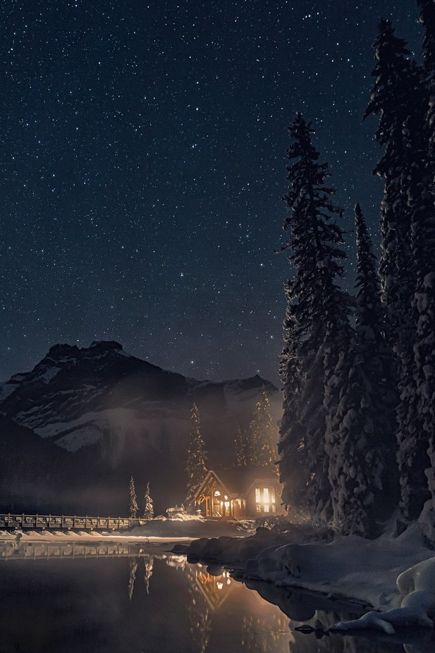Cabin under the stars by racheljonesross - Around the World Photo Contest By Discovery