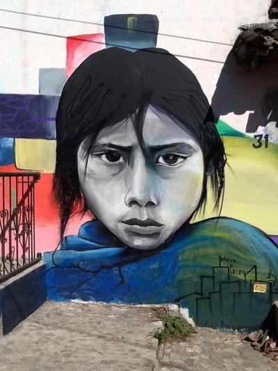 Street Mural San Cristobal, Oaxaca, Mexico