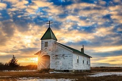 Wewela Church at Sunset