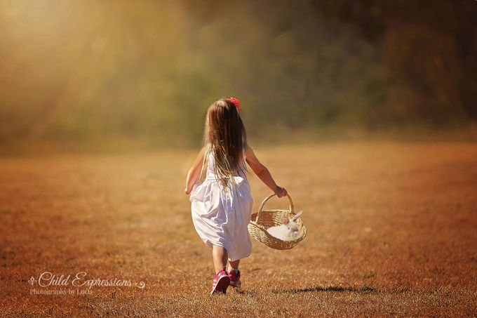 Walk with my Charlie rabbit by Child_Expressions - Children and Animals Photo Contest