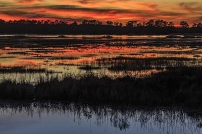 Sunset at Lake Mattamuskeet National Wildlife Refuge