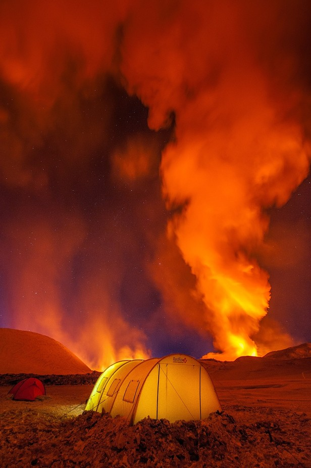 Camping with the view of hellfire by antonagarkov - Outdoor Camping Photo Contest
