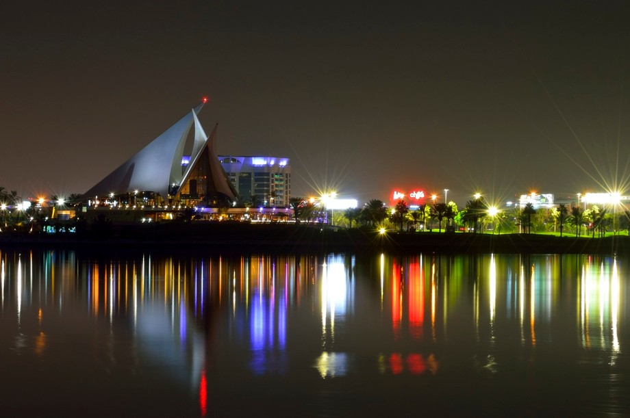 Beautiful night at Dubai creek. This picture was taken at the Creek park.
