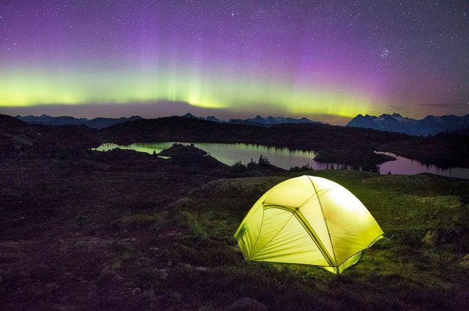 Aurora Camping by brandonbroderick - Outdoor Camping Photo Contest