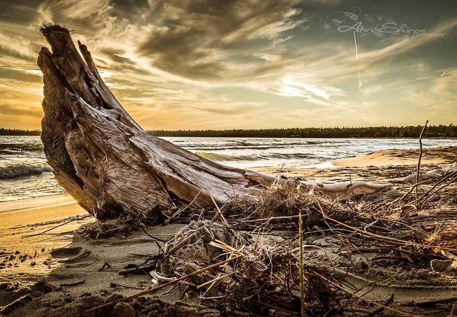 Setting Sun at Providence Bay on Manitoulin Island Ontario ~ September