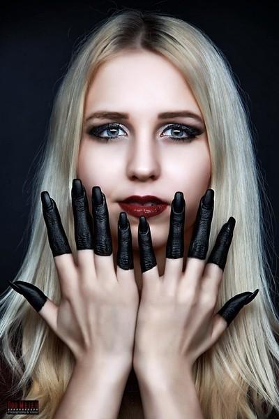 Black Fingers Portrait