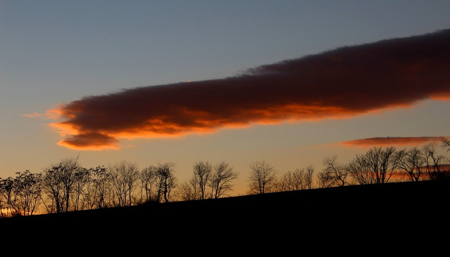 this was one of the first photos to be taken with my Canon SL 1. Sunset on yet another local road...