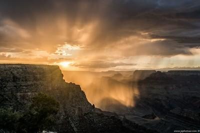 Sunset and Rain