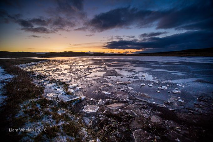 Icy loch in Shetland by liamwhelan - The First Light Photo Contest