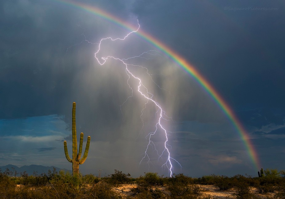 Finally! After years of trying I finally got my lightning and rainbow picture. What an awesome ev...
