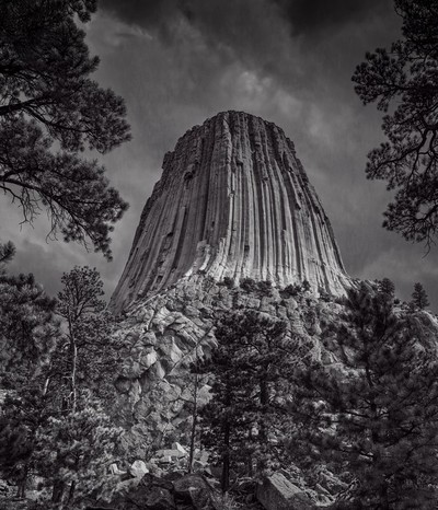 RGML5752 Storm over Devils Tower