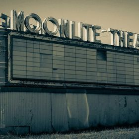 An old marquee from an obsolete drive in theater.