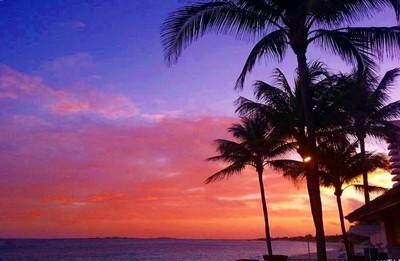 Sunset in Pradise