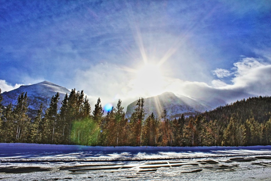 Cold day trying to stay warm in RMNP, first picture I've messed around with feed back wo...