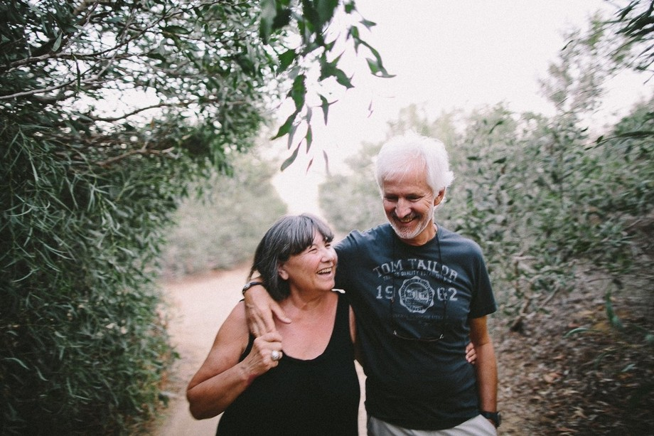 Old couple engagement