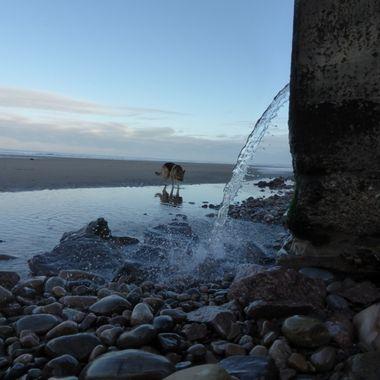 Nairn Waterfall on ee West Beach 19/01/16