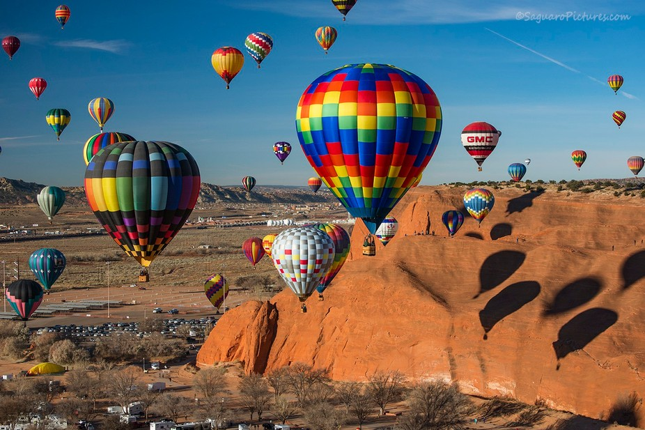 The balloon festival in the quirky little town of Gallup, New Mexico claims to be the second larg...