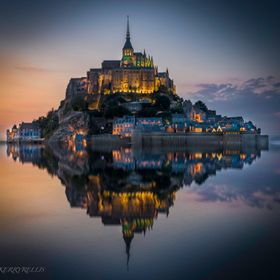 Le Mont Saint Michele at Twilight