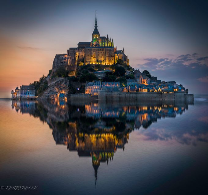 Le Mont Saint Michele at Twilight by kerryellis - World Expeditions Photo Contest