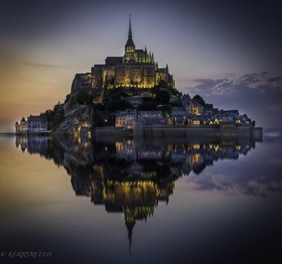Le Mont Saint Michele at Twilight