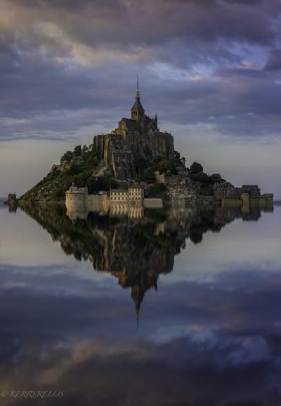 Le Mont Saint Michel Reflected 2