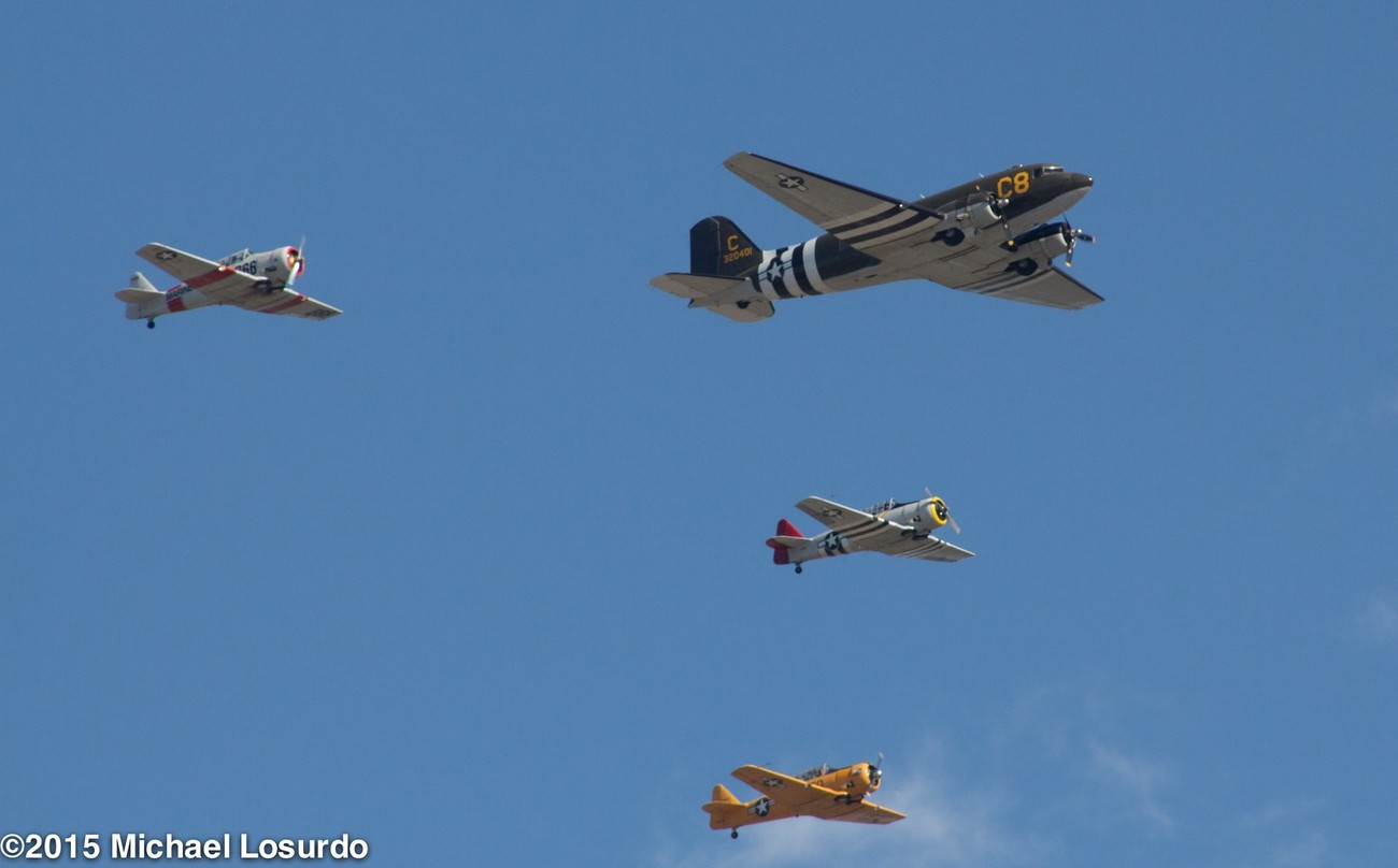 Confederate Air force flyover at TMS nascar race